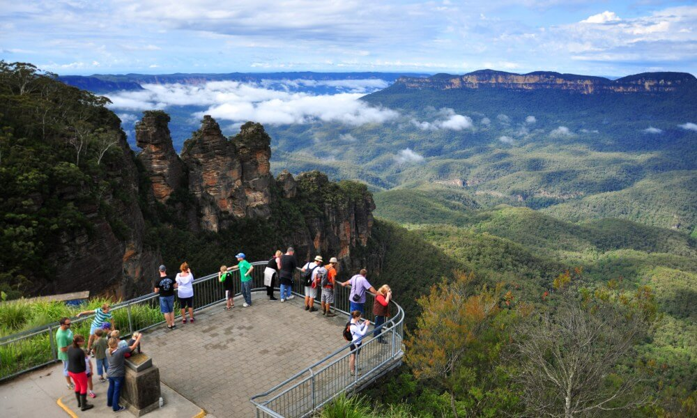 Sydney Tours R Us Viewing platform in Blue Mountains